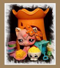 Authentic Littlest Pet Shop Lps #1726 Pink Longhair Angora Cat Shopkins