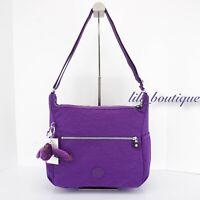 NWT Kipling HB6628 Alenya Crossbody Shoulder Bag Purse Polyamide Tile Purple $99
