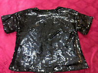 V BY VERY BLUE SEQUIN SPARKLY BOXY PARTY TOP/BLOUSE SIZE 22 ♡♡♡