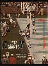1971 NEW YORK JETS GIANTS OFFICIAL PROGRAM LOT736