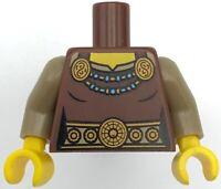 Lego Torso PotC Overcoat with Belts and Gold Fleur de Lis Buckles Blackbeard #31