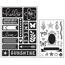 Momenta Art C Mixed Media Adhesive Stencil & Stamps - Words & Icons, Arrows