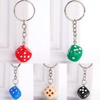 Cute Colorful Dice Key Chain Keyring Men Women Car Bags Pendant Creative Gifts