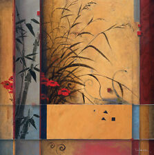 """27'x27"""" BAMBOO DIVISION by DON LI-LEGER FLORAL ASIAN CANVAS"""