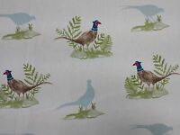 Clarke and Clarke Pheasants Birds Designer Curtain Upholstery Craft Fabric