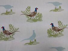 Clarke y Clarke Faisanes aves diseñador Cortina tapicería Tela Artesanal