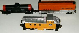 Bachmann N Gauge Whistle Stop Special Car Set w/ Caboose Box Car Dome Tanker