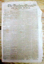 1814 newspaper w breaking news that MEXICO DECLARES its INDEPENDENCE from SPAIN