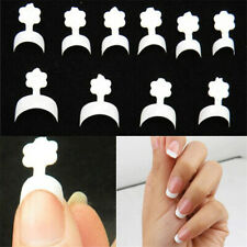 100pcs French Short Nail Tips Crescent False Nails Tips Finger Sticker Supplies