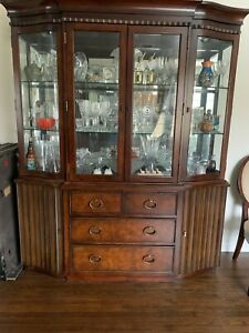Dining Room Set Table, Chairs, Buffet and China Cabinet