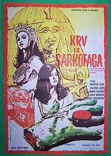 BLOOD FROM THE MUMMY'S TOMB-SETH HOLT-ORIGINAL YUGOSLAV MOVIE POSTER 1973-HORROR