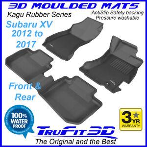 Fits Subaru XV 2012 - 2017 - 3D Rubber Moulded Floor Mats