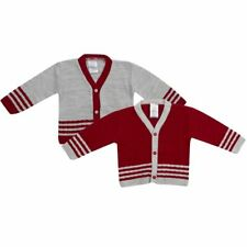 KNITTED BABY BOYS CARDIGAN BLUE, SKY, GREY, RED NB,0-3,3-6, 6-9, 9-12, 12-18mth