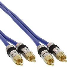 Cavo Audio Stereo Premium 2 x RCA Maschio / 2 x RCA M 2 MT Metri ORO Schermato
