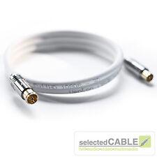 HDTV Antennenkabel 10m 5fach geschirmt 140dB DVB-C2 Fernsehen Kabel Digital TV