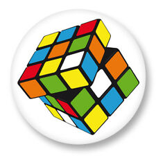 "Pin Button Badge Ø25mm 1"" Rubik's Cube Cube de Rubik Casse Tête"