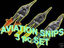 PRO 3 PC AVIATION TIN SNIPS shears set cutter sheet