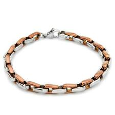 Exquisite New Gentlemens Bracelet 14K/StSl Gold Plated