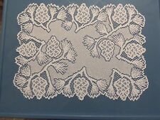 New White lace Woodland  design Doily/Placemat 19 x 14