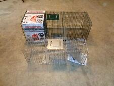 2 New Raccoon Skunk Possum Box Live Animal Trap 43x15x15 & 10x12x32 Rabbit Cat