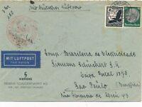 Nr 19867 Luftpost Brief Deutsches Reich Zeppelin Südamerika Fahrt - Brasilien 4