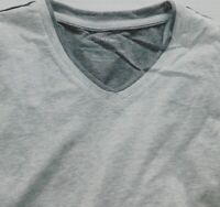 NEW MENS LARGE LIGHT HEATHER GREY CALVIN KLEIN PIMA COTTON TEE T SHIRT V-NECK