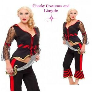 SALE PRICE!! Treasure Pirate Fancy Dress Costume Swashbuckler Wench Size 10-12