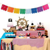 1x Mexican Papel Picado Banner Flags Garland Wedding Spanish Mexican Party Decor