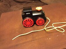 Black Brio Pull Train Engine Car Toy Red Wheels Yellow