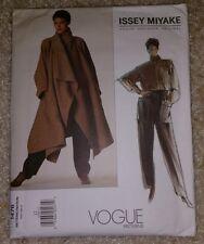 Vogue Sewing Pattern V1476, Issey Miyake Coat, Shirt & Pants, Size 12 Uncut