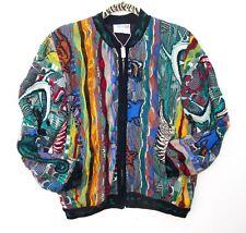 COOGI Australia Men's XS Jacket Cardigan Sweater Coat, Colorful ANIMALS