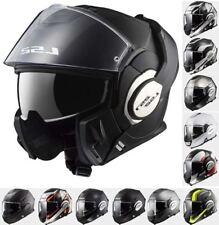 LS2 Ff399 Valiant Flip Helmet With Visor M Matte Black