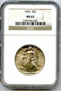 1943 Walking Liberty Half Dollar NGC MS-63