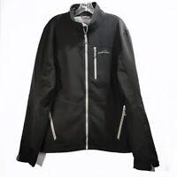 Eddie Bauer 365 Black Jacket Fleece Lined Full Zip Long Sleeve Mens Sz Large L