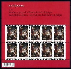 [77054] Belgium Belgien 2012 Art Paintings Jacob Jordeans Miniature Sheet MNH
