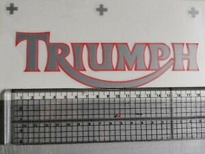 ****2 X TRIUMPH TANK STICKERS/DECALS  DECAL**red/silver 2 colour, cast vinyl