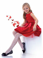 collant blanc fantaisie fille taille 11 ans (140-146) motif fleur knittex