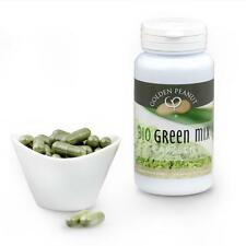 Bio Green Mix capsule 90 pezzi Chlorella Spirulina Moringa gerstengras polvere