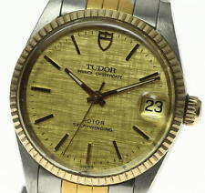 Auth TUDOR PRINCE OYSTERDATE 72033 Cal.2824-2 Gold dial Mid-size Watch_336070