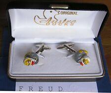 """Manschettenknöpfe """"Sigmund Freud"""" original Austroducks Design, Messing Silber"""