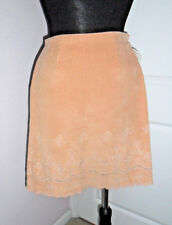 CYNTHIA STEFFE Apricot Skirt S-4 MICRO VELVETEEN Cotton,Embroidered,Lined,USA NW