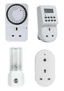 New 24 Hour 7 Day Holiday Auto Timer Mains Plug In Lamps Lights Switch Time