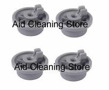 4x Dishwasher Lower Basket Rail Wheels For Bosch Neff & Siemens - Grey 00 165314
