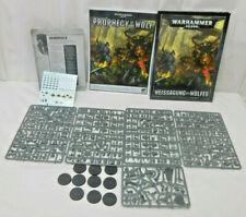 Warhammer 40.000 Weissagung des Wolfes Figuren + Heft