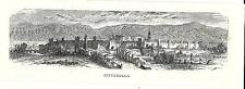 Stampa antica CITTADELLA veduta panoramica Padova 1876 Old print Engraving