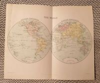 Map - The World - 1924 Book Page