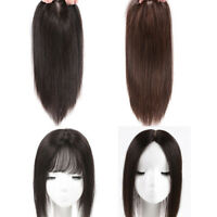 Women Clip In 100% Real Virgin Human Hair Top Piece Topper Toupee Hair Pieces