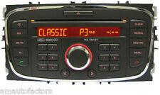 REFURBED FORD 6000 FOCUS MONDEO GALAXY SMAX AUX CD RADIO UNIT +CODE 2007 to 2011