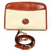 Vintage Dooney & Bourke Bone /British Tan All weather Leather Shoulder Bag