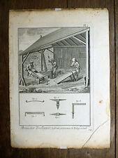 Encyclopédie Diderot D'Alembert 1 PLANCHE Menuisier Treillageur TREILLAGE 18e s.